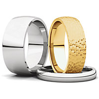 Comfort Fit Light Wedding Bands