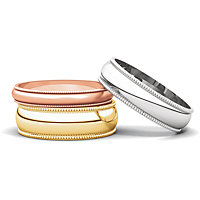 Milgrain Light Wedding Bands
