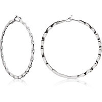 Bezel Set Inside/Outside Diamond Hoop Earrings