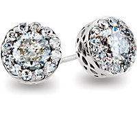 Diamond Fantasy™ Diamond Stud Earrings with Threaded Backs